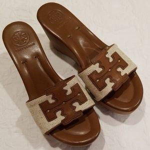 Tory Burch Terri Canvas Slide Sandals size 8